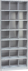 "STEEL BIN UNIT WITH 21-OPENINGS, UNIT 87""HIGH (TBD)"