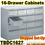 16-Drawer Steel Parts Cabinets / TBDC1627