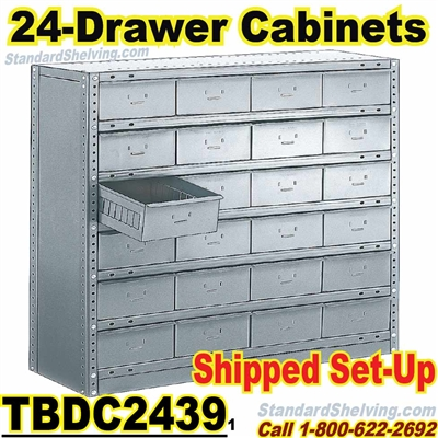 24-Drawer Steel Parts Cabinets / TBDC2439