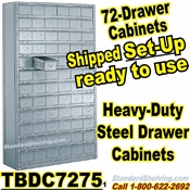 72-Drawer Steel Parts Cabinets / TBDC7275