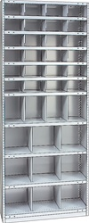 "STEEL BIN UNIT WITH 37-OPENINGS, UNIT 87""HIGH (TBH)"