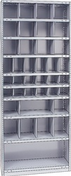 "STEEL BIN UNIT WITH 38-OPENINGS, UNIT 87""HIGH (TBI)"
