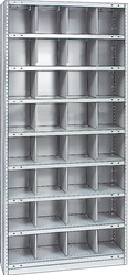 "STEEL BIN UNIT WITH 32-OPENINGS, UNIT 75""HIGH (TBR)"