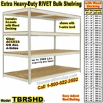 Extra Heavy-Duty Wood-Deck Rivet Shelving / TBRSHD