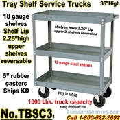 Tray 3-Shelf Service Trucks / TBSC3