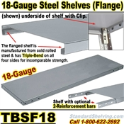 Extra 18 gauge Steel Flange Shelves / TBSF18
