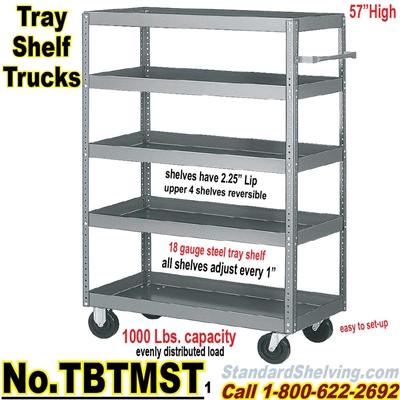 Steel Tray Shelf Trucks TBTMST