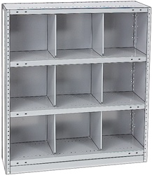 "STEEL BIN UNIT WITH 9-OPENINGS, UNIT 40""HIGH (TBV)"