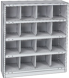 "STEEL BIN UNIT WITH 16-OPENINGS, UNIT 40""HIGH (TBW)"