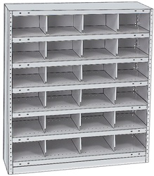 "STEEL BIN UNIT WITH 24-OPENINGS, UNIT 40""HIGH (TBX)"