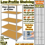 Low Profile Rivet Shelving / TCLP