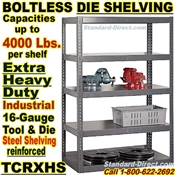 Boltless Extra Heavy-Duty Die Shelving / TCRXHS