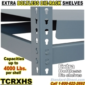 Extra Boltless Heavy-Duty Die Shelves / TCRXHSS