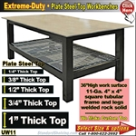 Extreme Duty Plate Steel Top WorkBenches