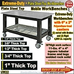 MOBILE Plate Steel Top WorkBenches