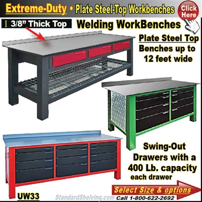 Plate Steel Top WorkBenches