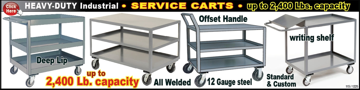 Extreme Duty Service Carts And Rolling Tables | Standard Shelving