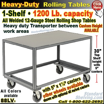 ... (145) 66IPH / Extra Heavy Duty Steel Rolling Table