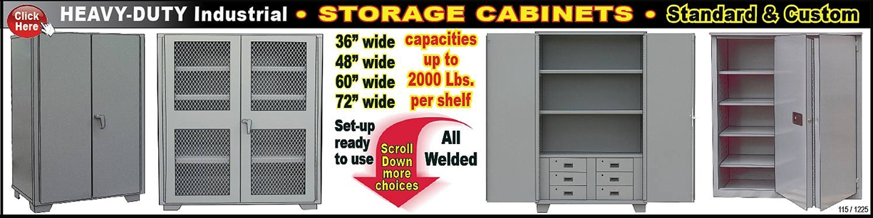 sc 1 st  Warehouse Shelving Systems & Heavy-Duty Industrial Storage Cabinets | Standard Shelving
