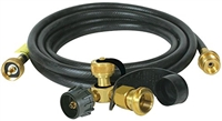 "CAMCO 90 DEGREE PROPANE TEE WITH 3 PORTS 12"" HOSE"
