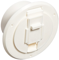 JR Products (S-23-10-A Polar White Economy Round Electric Cable Hatch.