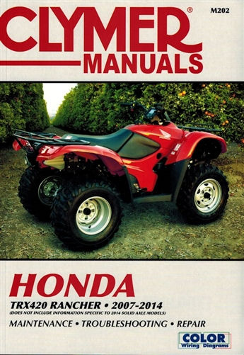Honda TRX420 Rancher Repair Manual