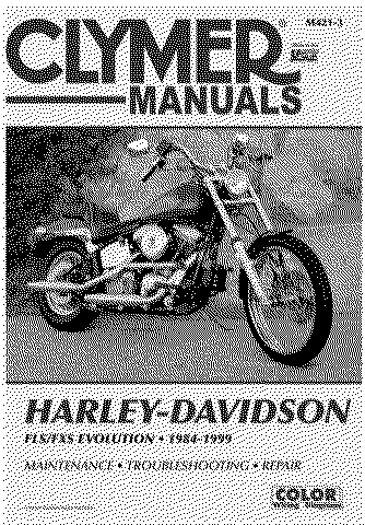 harley davidson softail service and repair manual fls fxs fxc rh themanualstore com 1999 Harley 1999 FLSTS Heritage Springer Harley-Davidson