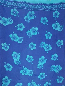 Blue with Turquoise  Hibiscus Flowers
