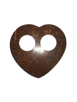 Coconut Heart Shaped Clip