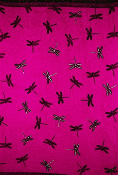 Pink Sequined with Dragonflies