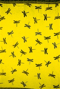Yellow Sequined with Dragonflies