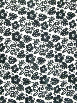 Busy Floral Pattern in Black