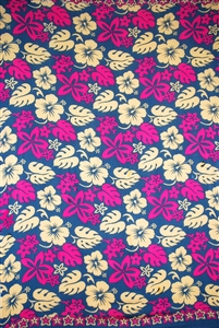Busy Floral Pattern in Pink and Beige