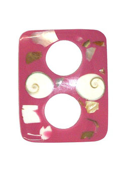 Pink Buckle Clip with Abalone Shell