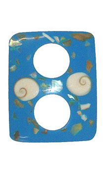Blue Buckle Clip with Abalone Shell