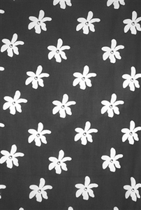 Plus Size Tiare Flower Print in Black and White