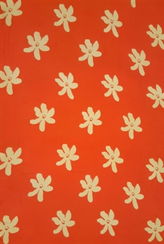 Plus Size Tiare Flower Print in Orange