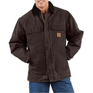 Carhartt Men's Sandstone Traditional Arctic Quilt-Lined Coat