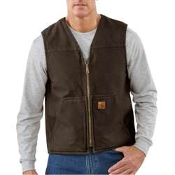 Carhartt Men's Sandstone Rugged Sherpa Lined Vest