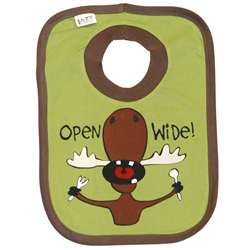 Lazy One Baby Open Wide Moose Bib