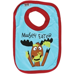 Lazy One Baby Moosey Eater Bib