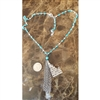 Down To Earth Arrow Heart Necklace with Tassle