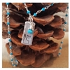 Down To Earth Heart Idaho with Delicate Turquoise Wire Wrapped Chain