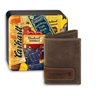 Carhartt Men's Two-Tone Trifold Wallet with Collectible Tin