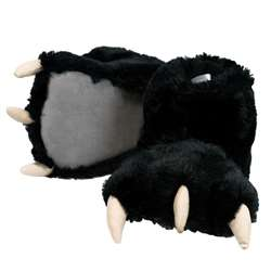 Lazy One Black Bear Paw Slippers