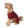 Lazy One Red Plaid Dog  Flapjack Onesie