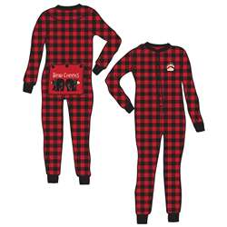 Lazy One Unisex Bear Cheeks Plaid Flapjacks Pajamas