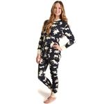 Lazy One Blue Classic Moose Adult Flapjacks Onesie