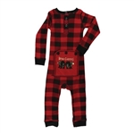Lazy One Infant Bear Cheeks Plaid Infant Flapjacks