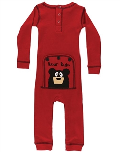 Lazy One Toddler Bear Bum Red Flapjacks